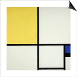 Composition with Blue and Yellow; Composition Avec Bleu Et Jaune, 1931 Posters by Piet Mondrian