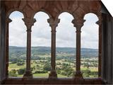 Chateau de Castelnau-Bretenoux, panorama depuis une des baies de la salle de la tour-residence Prints by Pascal Lemaitre