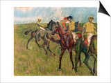 Horses with Jockeys, 1910 Prints by Edgar Degas