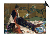 Caprice in Purple and Gold: the Golden Screen, 1864 Art by James Abbott McNeill Whistler