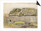 A Barn with a Mossy Roof, Shoreham (W/C with Brown Wash, Ink, Gouache and Pencil on Paper) Posters by Samuel Palmer