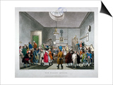 Bow Street Police Court, Westminster, London, 1808 Print by Thomas Rowlandson