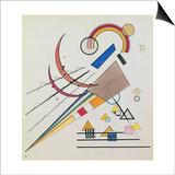 With the Triangle (W/C and Gouache) Arte por Wassily Kandinsky
