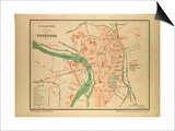 Map of Toulouse France Poster