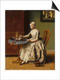 A Lady Pouring Chocolate (La Chocolatier), C. 1745 Poster by Jean-Étienne Liotard
