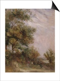 Landscape with Trees and Figures Posters by Thomas Churchyard