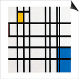 Composition with Blue, Red and Yellow, 1935-42 Prints by Piet Mondrian