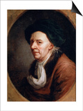 Portrait of the Mathematican Leonhard Euler, (1707-178), German Painting of 18th Century Prints by Joseph Friedrich August Darbes