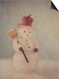 Snowman and Broom by Jennifer Kennard Posters by Jennifer Kennard
