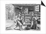 Feeding Silkworms, 18th Century Art