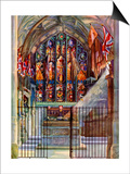 The Warriors' Chapel, Canterbury Cathedral, Kent, 1924-1926 Print by EC Boon