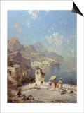Overlooking Amalfi Prints by Franz Richard Unterberger