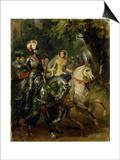 Cavalcade, Ca 1842 Prints by Horace Vernet