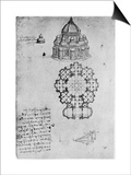 Designs for a Central Church, C1488 Posters by  Leonardo da Vinci