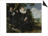 Portrait of a Couple, Probably Isaac Abrahamsz Massa and Beatrix Van Der Laen, C.1622 Prints by Frans Hals