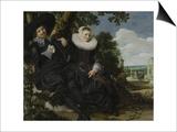 Portrait of a Couple, Probably Isaac Abrahamsz Massa and Beatrix Van Der Laen, C.1622 Prints by Frans Hals