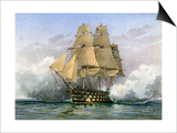 HMS Victory, British Warship, C1890-C1893 Poster di William Frederick Mitchell