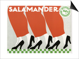 Salamander Shoes Prints by Ernst Deutsch