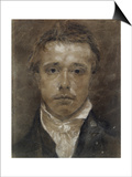 Self-Portrait, C.1824 (Black Chalk, Heightened with White, on Buff Paper) Posters by Samuel Palmer