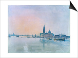 San Giorgio Maggiore from the Dogana, 1819 Posters by Joseph Mallord William Turner