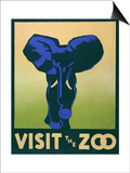 Visit the Zoo Poster with Elephant Posters