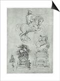 Trivulzio Monument, C1511 Prints by  Leonardo da Vinci