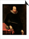The Ashbourne Portrait of Shakespeare, 16th Century Art by Cornelius Ketel