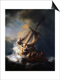 Christ in the Storm on the Lake of Galilee, 1633 Print by  Rembrandt van Rijn