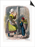 French Woman and Child Selling Fruit, 1809 Posters by W Dickes