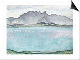 Thunersee with the Stockhorn Mountains, 1910 Posters by Ferdinand Hodler