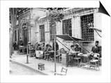 Straencafe in Istanbul, 1927 Art by  Scherl
