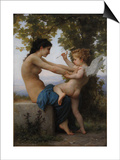 A Young Girl Defending Herself Against Eros, 1880 Posters by William-Adolphe Bouguereau