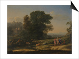 Landscape with Cephalus and Procris Reunited by Diana, 1645 Posters by Claude Lorrain