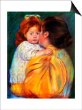 Maternal Kiss, 1896 Prints by Mary Cassatt