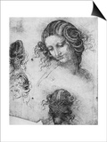 Study for the Head of Leda, 1503-1507 Prints by  Leonardo da Vinci