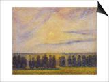 Sunset at Eragny, 1890 Posters par Camille Pissarro