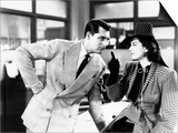 His Girl Friday, from Left: Cary Grant, Rosalind Russell, 1940 Poster
