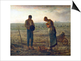 The Angelus, 1857-1859 Poster by Jean Francois Millet