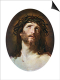 Head of Christ Crowned with Thorns, 1622-1623 Prints by Guido Reni