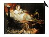 The Death of Cleopatra, 1875 Prints by Hans Makart