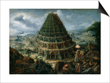 The Tower of Babel, 1595 Prints by Marten van Valckenborch