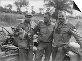 Robert Capa (Left) and Ernest Hemingway (Right) with their Driver U.S. Army Driver Prints