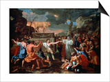 The Adoration of the Golden Calf, C1635 Art by Nicolas Poussin