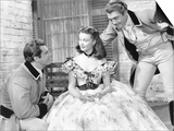 Gone with the Wind, from Left: Fred Crane, Vivien Leigh, George Reeves, 1939 Print
