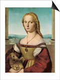 Portrait of a Young Lady with a Unicorn, 1505-1506 Posters par  Raphael