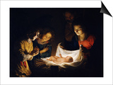 The Adoration of the Christ Child, C. 1620 Posters by Gerrit van Honthorst