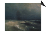 Storm at the Seashore by Nice, 1885 Prints by Ivan Konstantinovich Aivazovsky