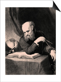 Galileo Galilei, 1852 Prints by Samuel Sartain