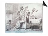 The Head Ache, 1835 Print by George Cruikshank