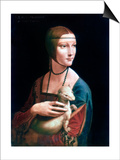 Portrait of Cecilia Gallerani, Lady with an Ermine, C1490 Posters by  Leonardo da Vinci